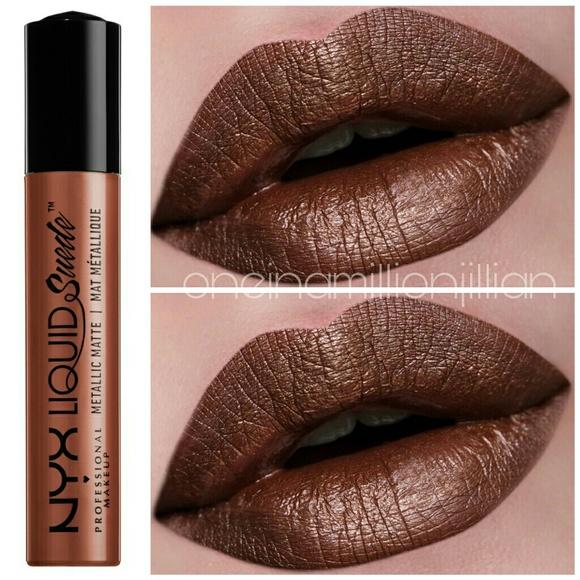 Nyx Makeup Metallic Liquid Suede Matte Lipstick Poshmark